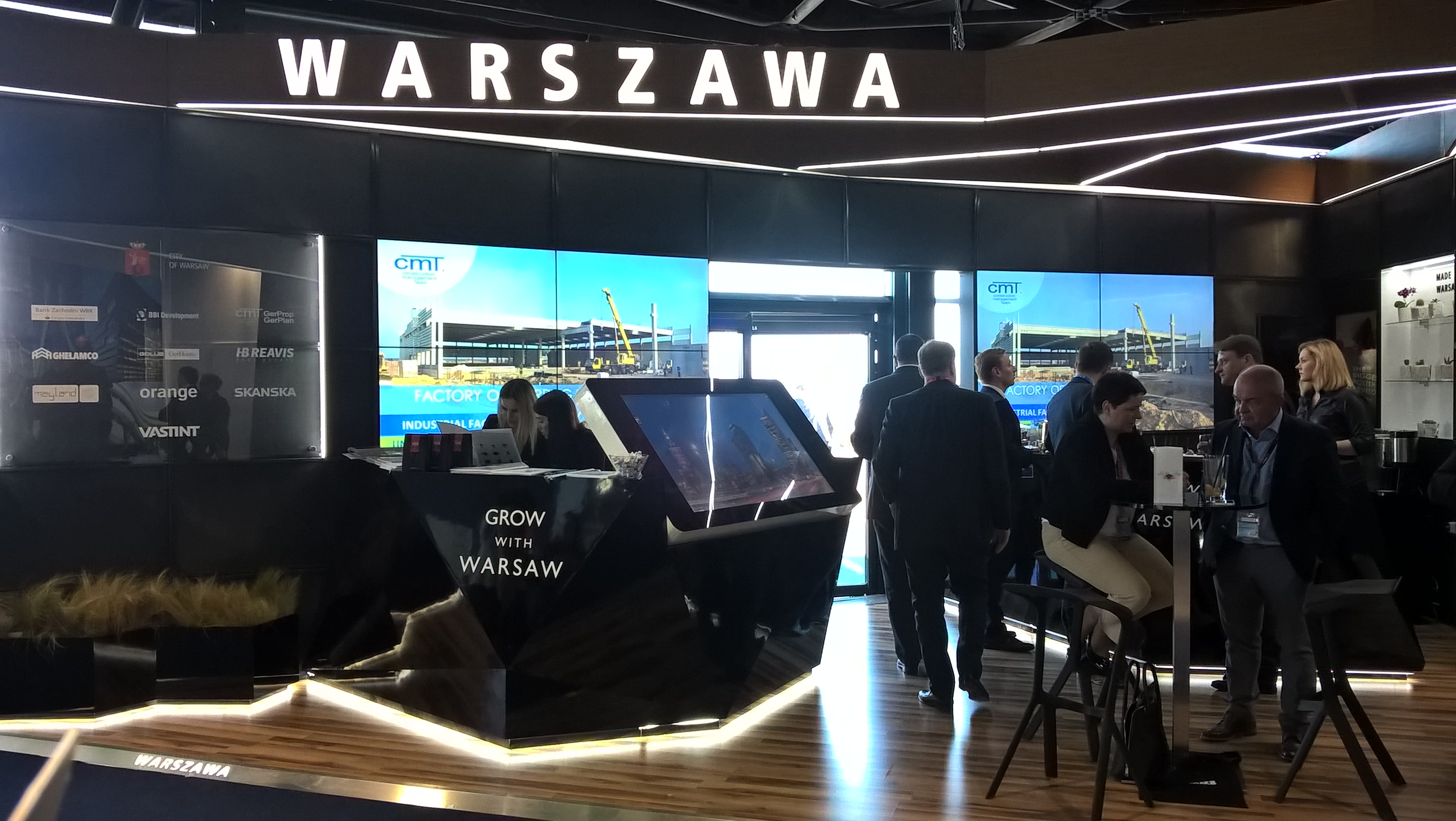 cmT as a Partner of the City of Warsaw at MIPIM Fairs