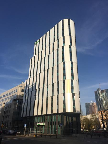 The construction of Holiday Inn Warsaw City Center has finished